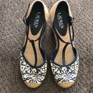 Ralph Lauren t strap shoes